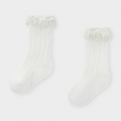 Mayoral Baby Long Socks with Lace